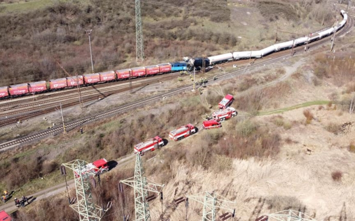 Collision of freight trains in the Czech Republic