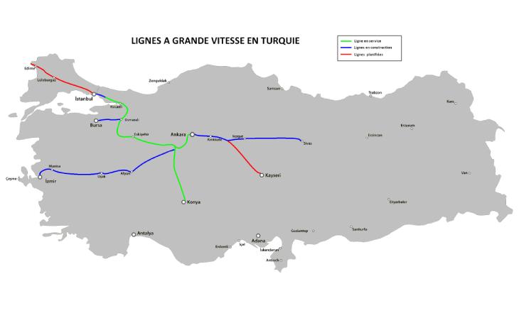 High speed rail in Turkey