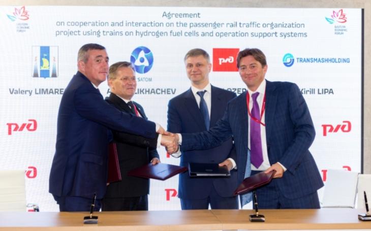 Transmashholding & Rosatom Overseas Cooperate for the Future Russian Hydrogen Railways
