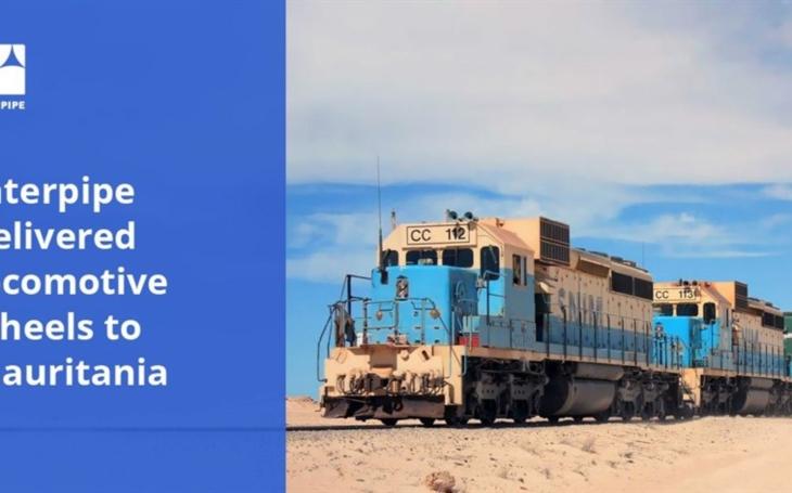 Interpipe delivered locomotive wheels to Mauritania