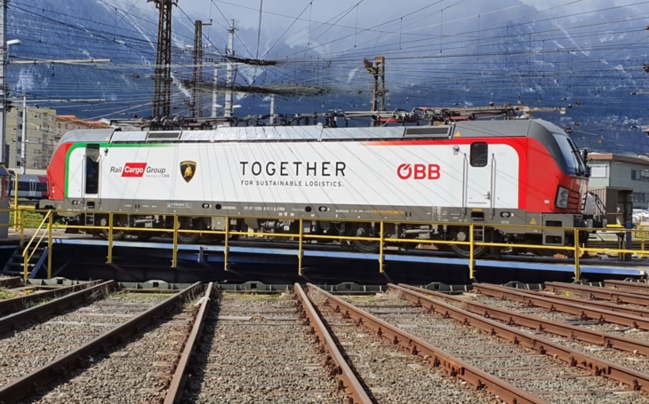 ÖBB RCG and Lamborghini working together for sustainable logistics
