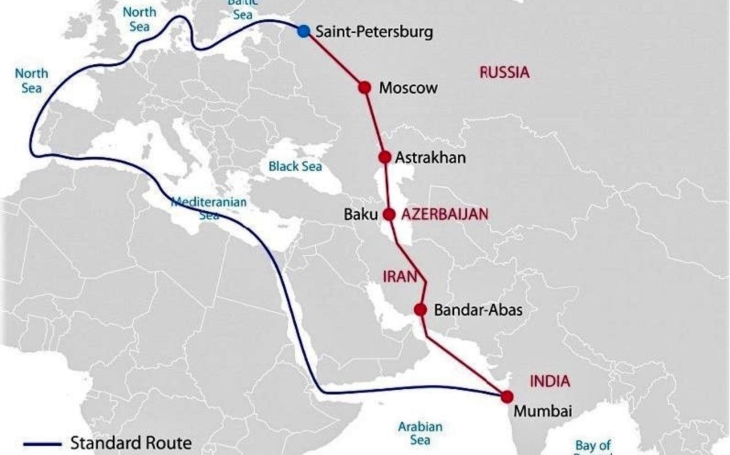 The first regular freight train from India to Russia departs via Azerbaijan