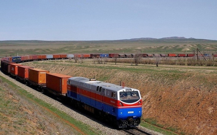 The first container block train running via the International North-South Transport Corridor has been set off