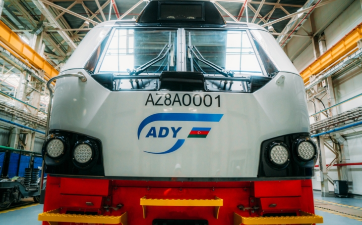 Commercial operation of Prima T8 electric locomotives has started in Azerbaijan