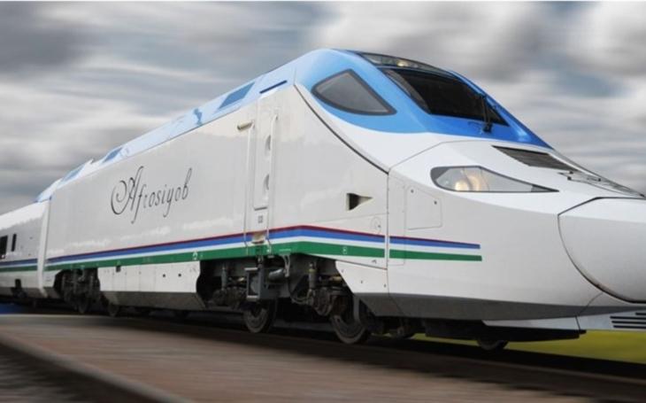 The fifth Talgo-250 train arrives in Uzbekistan