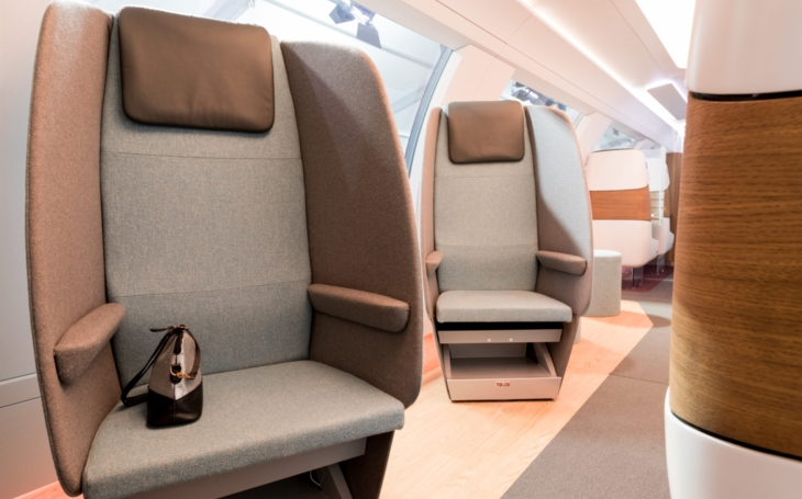 Global textile manufacturer Camira has developed and created a unique fabric for Deutsche Bahn IdeasTrain, 2021