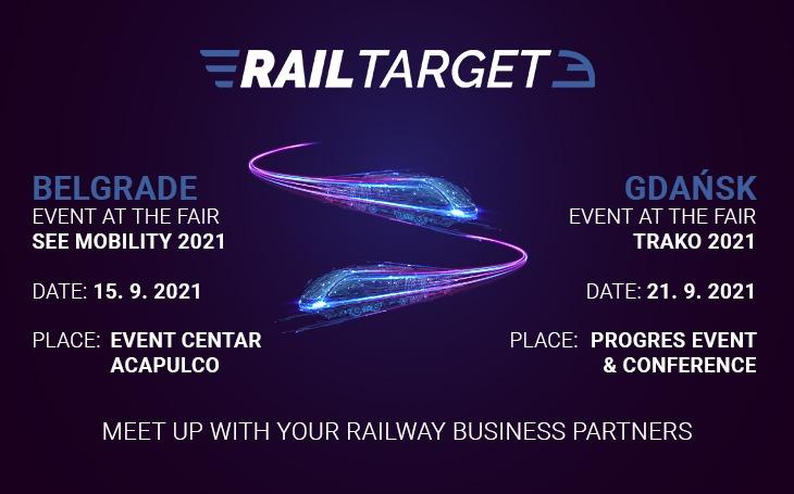 Rail Target Gala Events at SEE MOBILITY 2021 fair and TRAKO 2021 fair