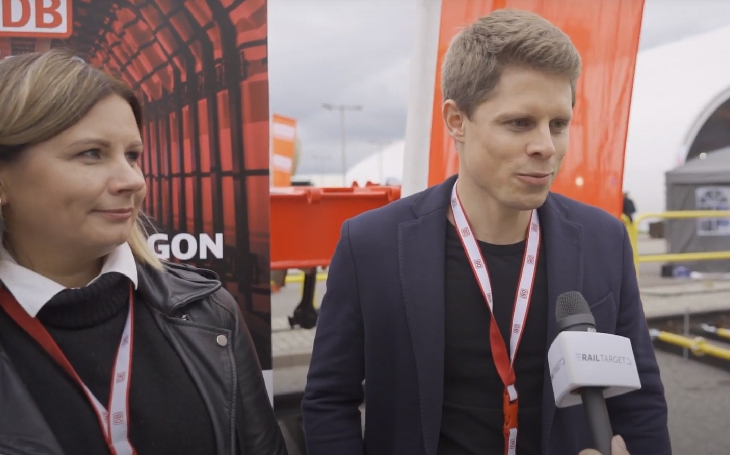 Exclusive video report and interwiew from DB CARGO´s official presentation of the new wagon at TRAKO 2021